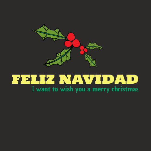 feliz navidad i want to wish you a merry christmas