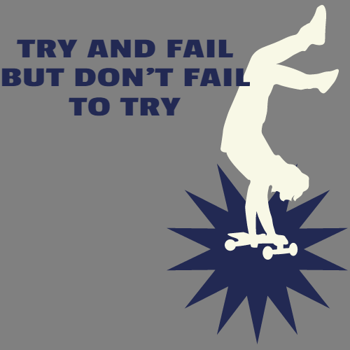 try and fail but don't fail to try