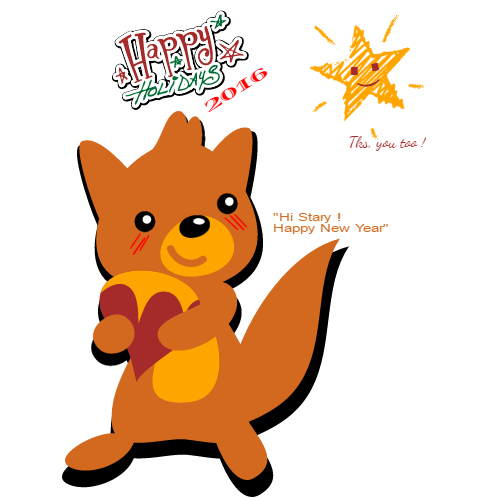happy holidays thx you too hi starry! happy new year