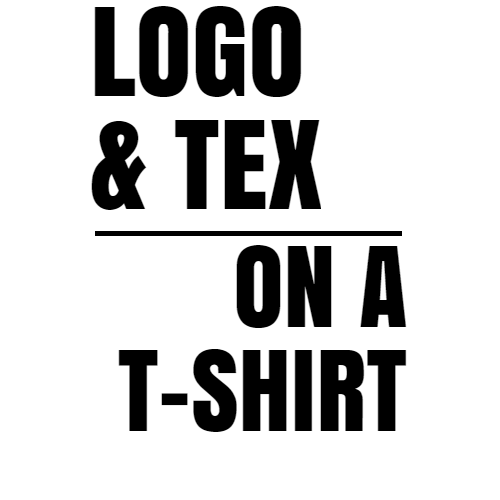 logo & tex on a t-shirt