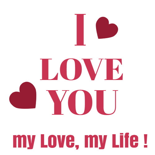 i love you my love, my life