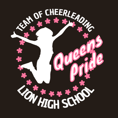 team of cheerlea queens pride lion high school