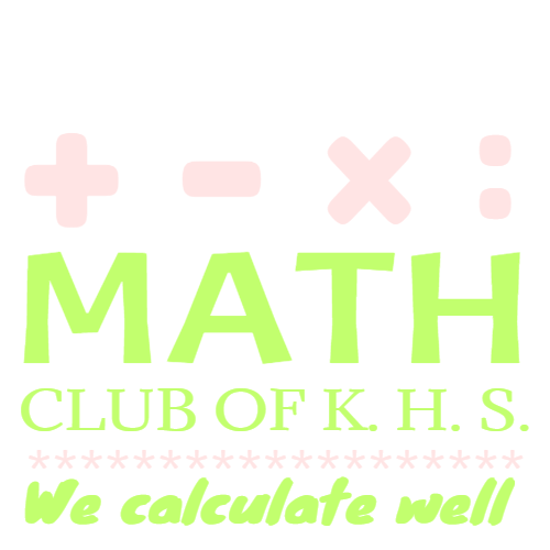 math club of k.h.s we calculate well