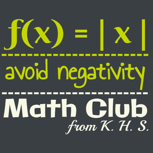 avoid negativity math club from k.h.s