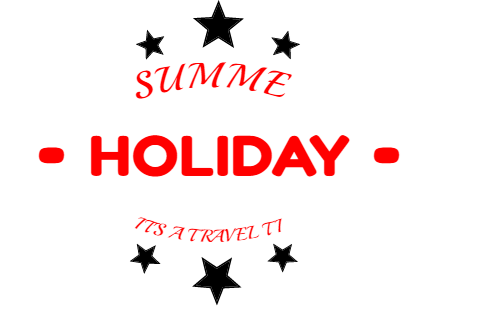 summer holiday it's a travel time